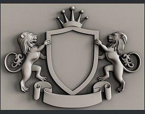 3d STL models for CNC coat of arms