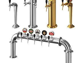Beer Towers Metal 3D model