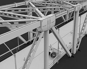 Suspension Bridge and Tower 3D