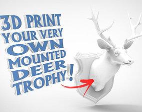 3D printable model Wall Plaque Mounted Deer Head Trophy