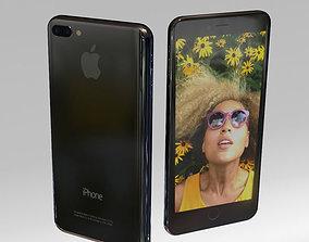 3D asset Iphone 7 Plus Black color