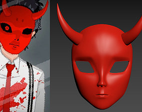 3D print model Yuppie Psycho red devil mask with