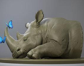 3D printable model nature Rhino