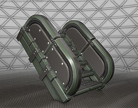 Sci-Fi Stairs - 30 - Green Version 3D model VR / AR ready