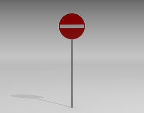 Do not enter sign 3D