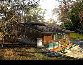 Villa 3D model residence
