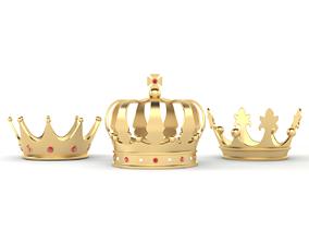 3D model king Golden Crown