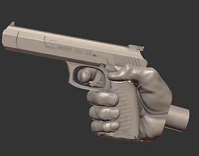 3D print model Gun Hand For Poseable Action Figure