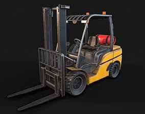 3D model Low-poly PBR Forklift Truck