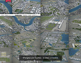 Shanghai and Suzhou - 2 cities 3D model