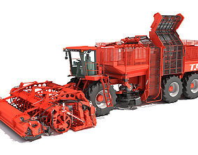 3D Holmer Potatoes Sugar Beet Harvester lifting