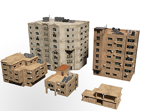 middle east buildings 3D model arabian