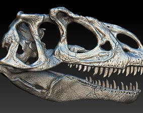 3D model monster Allosaurus Skull