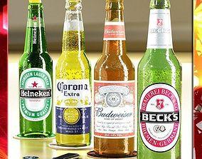 3D model Beers Bottles