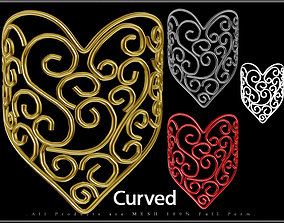 Heart Wire 06 - Curved 3D model