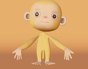 Yellow Monkey 3D asset