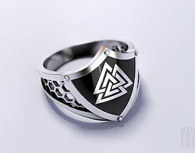 Viking ring Valknut 3D printable model