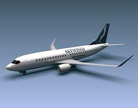 3D model Boeing 737-300w airliner