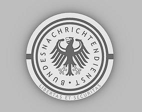 Coat of arms BND Emblem 3D printable model