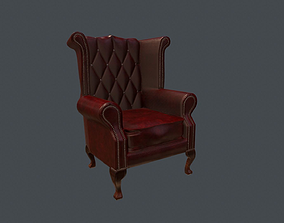 Chesterfield Chair - PBR Game Ready 3D model