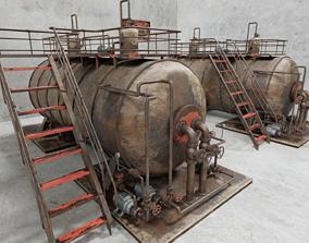 3D Industrial Steam Boiler