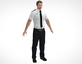 Officer man 2 3D model