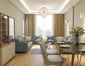 3D scene Modern Living Room