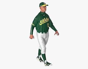Baseball Player Rigged Athletics 2 3D