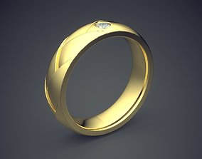 3D print model Classic Golden Engagement Ring With 3