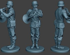 German musician soldier ww2 Stand 3D printable model 3