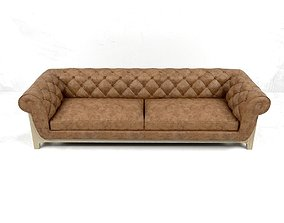 3D model Sofa Cocoon Chesterfield 4 Seater by Bleu Nature