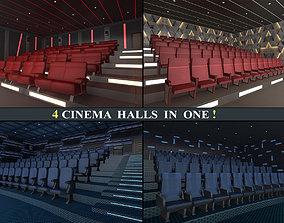 3D asset Cinema Halls Pack01