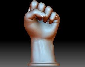 BLM hand sign logo fist STL file 3D printable model Black