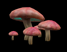 Mushroom 3D model realtime food