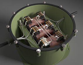Electrical marine transformer TSVM4 3D