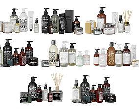 Bathroom Black And White Cosmetics BLENDER 3D Model