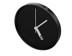 Wall Clock scandinavian 3D