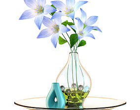 3D model Vase with Flowers