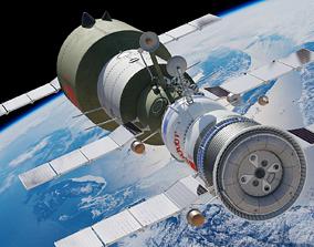 salyut space station 3D model