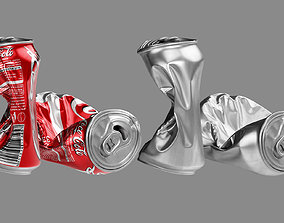 Crushed Soda Can 03 3D model