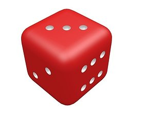 Red dice 3D