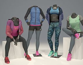 3D model Woman mannequin Nike pack 3