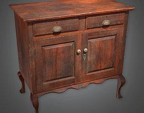 3D model ATT - Wooden Cabinet Antiques 02 - PBR Game Ready