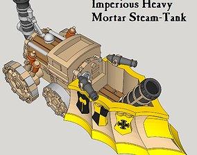 3D print model 10mm Imperious Heavy Mortar Steam-Tank