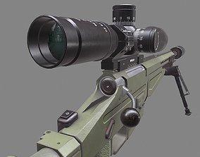 3D asset VSV-338 new russian military sniper rifle 4k