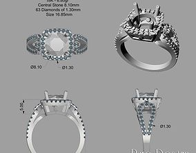 Ring Simona 2 ct 3D printable model
