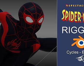 3D asset Spectacular Spider - Man Miles Morales