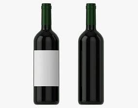 Wine bottle mockup 03 Red 3D model