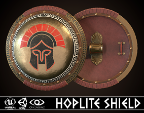 Hoplite Shield Strategist 3D asset