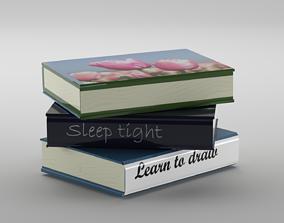 Books 3D model book